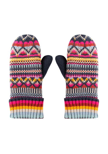 Women's Multi Colour Mittens