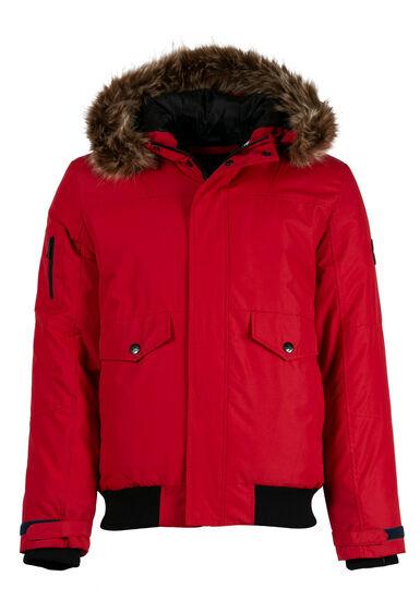 Men's Bomber Jacket, RED, hi-res