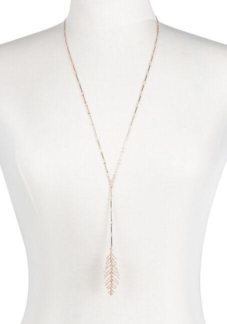 Ladies' Y Neck Feather Necklace