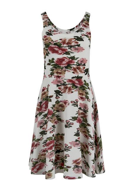 Ladies' Floral Fit & Flair Dress