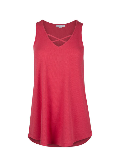 Ladies' Cage Neck Tank, CORAL, hi-res