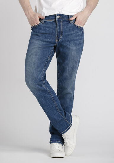 Men's Mid Wash Athletic Jeans, MEDIUM WASH, hi-res