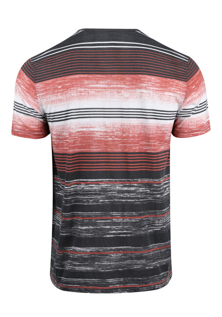 Men's Everyday Striped Tee, BRICK DUST, hi-res