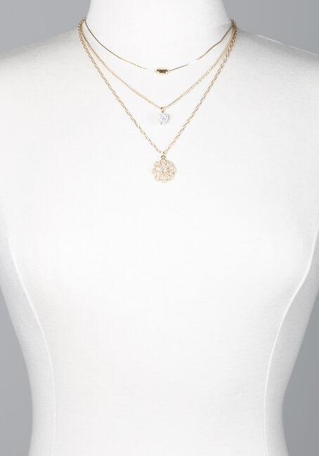 Women's Gold Floral Pendant Necklace