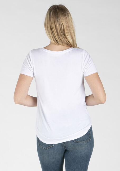 Women's Drapey Scoop Neck Tee, WHITE, hi-res