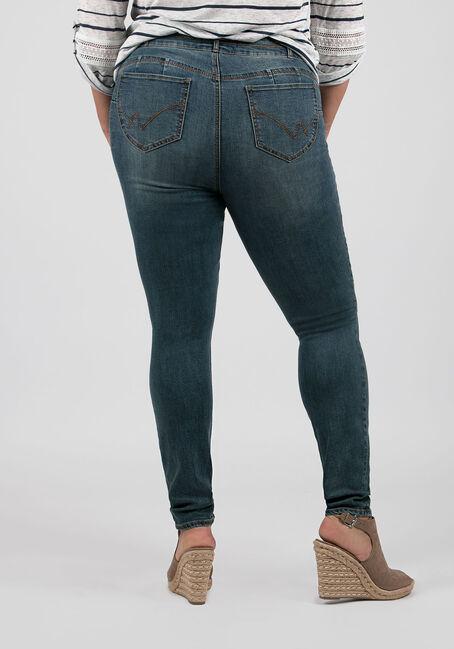 Ladies' Plus Size Skinny Jeans, LIGHT VINTAGE WASH, hi-res