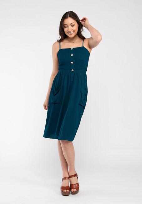 Women's Smocked Midi Dress