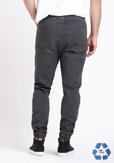 Men's 5 Pocket Dark Grey Twill Jogger, DARK GREY, hi-res