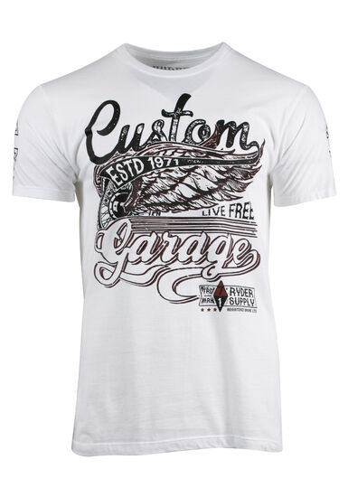 Men's Custom Garage Tee, WHITE, hi-res