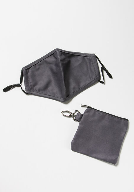 Mask With Carrying Case, GREY, hi-res