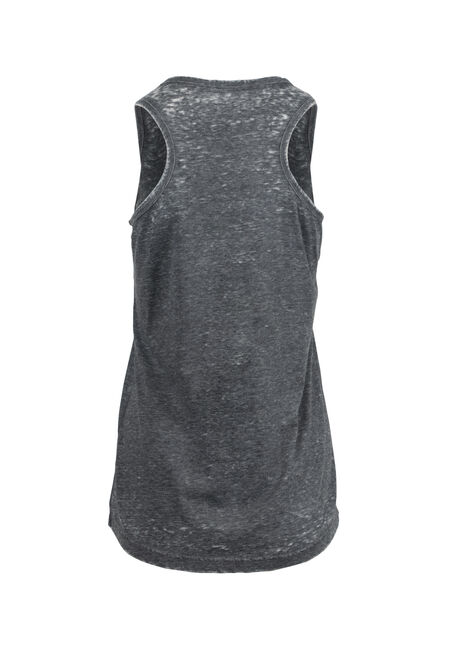 Women's Burnout Racerback Tank, BLACK, hi-res