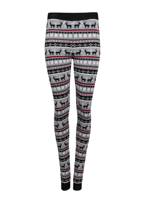 Ladies' Reindeer Legging, RED, hi-res