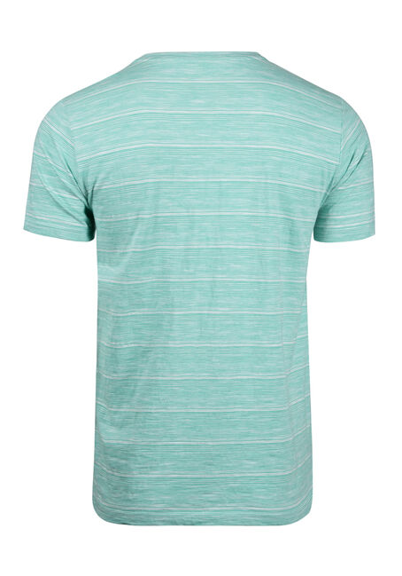 Men's Everyday Split V-Neck Tee, AQUA GREEN, hi-res