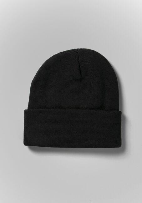 Women's Knit Beanie, BLACK, hi-res