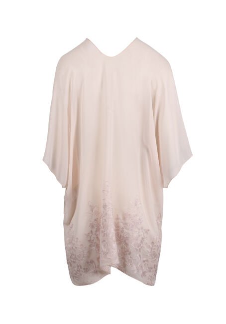 Women's Embroidered Kimono, PALE PINK, hi-res