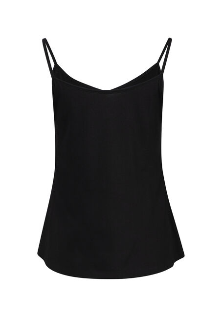 Women's Reversible Relaxed Strappy Tank, BLACK, hi-res