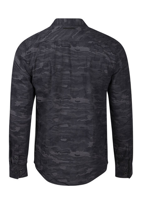 Men's Camo Shirt, CHARCOAL, hi-res