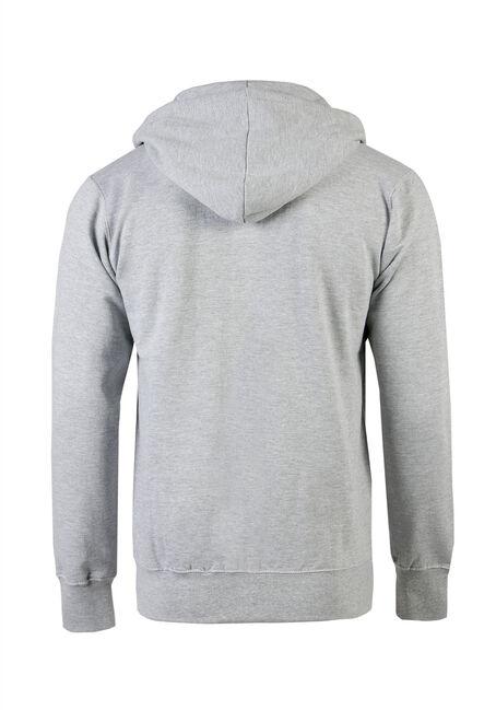 Men's Zip Front Hoodie, HEATHER GREY, hi-res
