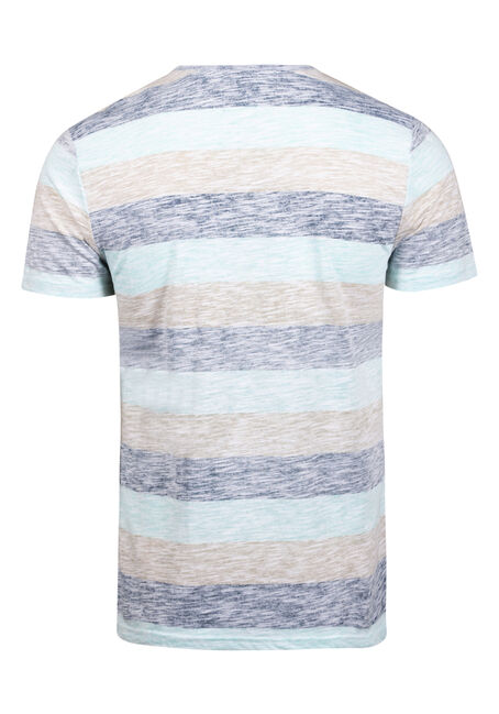 Men's Everyday Striped Pocket Tee, SKY, hi-res