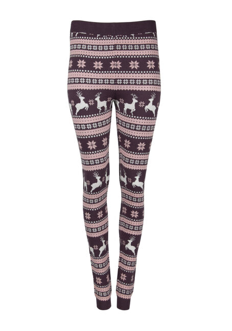 Ladies' Reindeer Sweater Legging