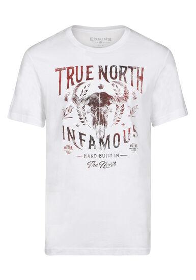 Men's True North Skull Tee, WHITE, hi-res