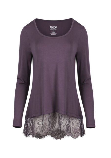 Ladies' Lace Hem Tee