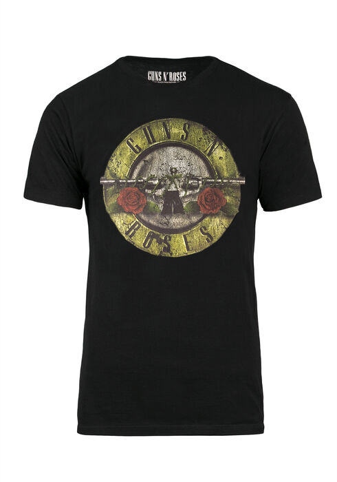 Ladies' Guns N Roses Oversize Tee, BLACK, hi-res