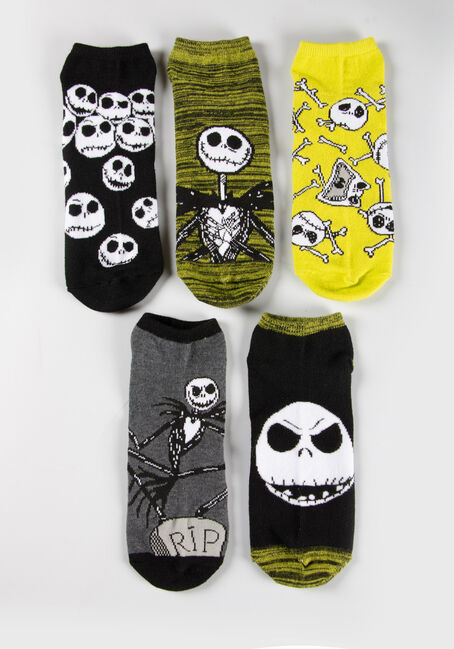 Men's 5 Pair Nightmare Socks, CHARTREUSE, hi-res