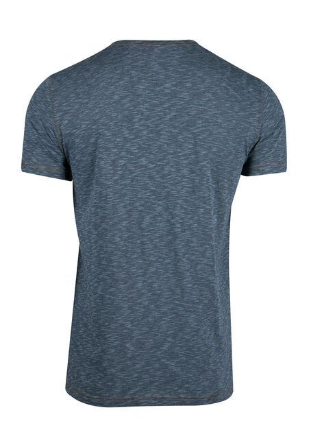 Men's Everyday Split V-neck Tee, BLUE, hi-res