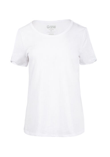 Women's Split Sleeve Tee, WHITE, hi-res