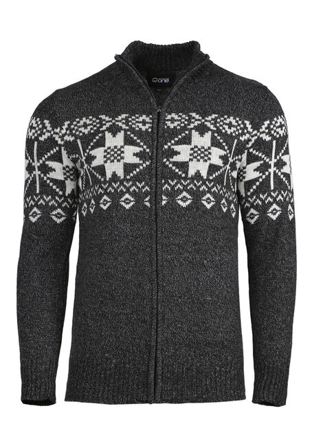Men's Nordic Zip Front Sweater