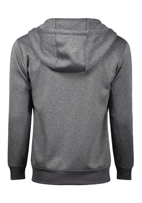 Men's Classic Zip Front Hoodie, HEATHER GREY, hi-res