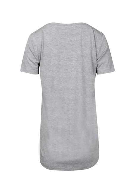 Women's Drapey Scoop Neck Tee, HEATHER GREY, hi-res