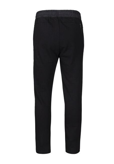 Men's Embossed Fleece Pant, BLACK, hi-res