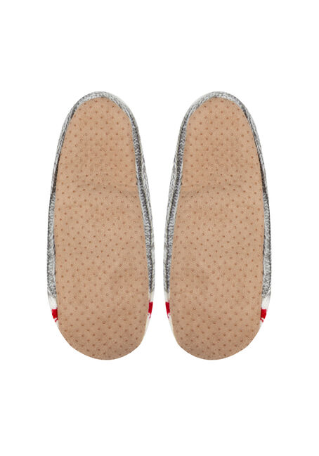 Women's Fuzzy Cabin Slippers, GREY, hi-res
