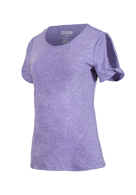 Women's Split Sleeve Tee, VIOLET, hi-res