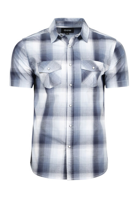 Men's 2-Pocket Plaid Shirt