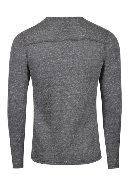 Men's Henley Tee, CARBON, hi-res