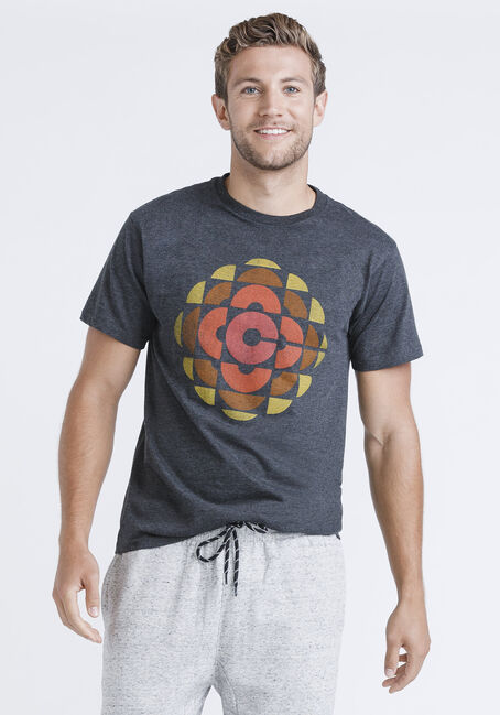Men's Vintage CBC Tee, CHARCOAL HEATHER, hi-res