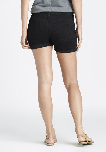 Ladies' Mid Length Short, BLACK, hi-res