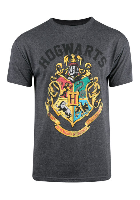 Men's Harry Potter Tee, CHARCOAL, hi-res