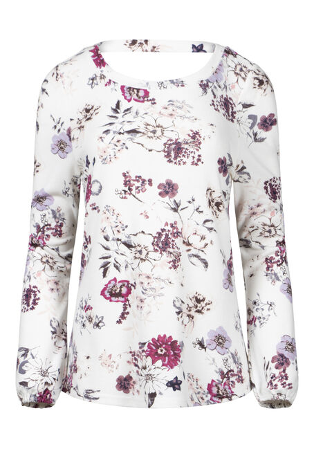 Women's Floral V-Back Top