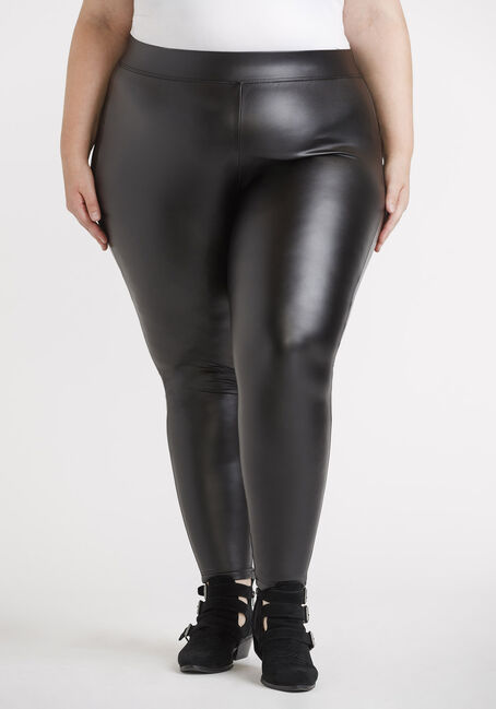 Women's Plus Faux Leather Legging