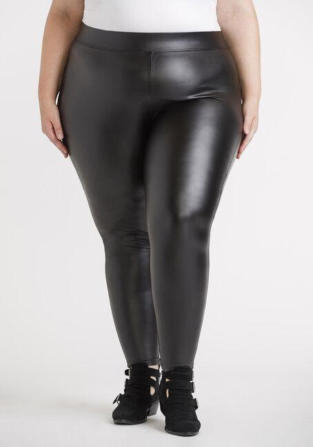 Women's Plus Faux Leather Legging