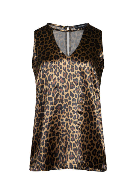 Women's Leopard Print Shimmer Tank