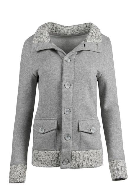 Ladies' Button Front Fleece