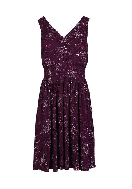 Women's Double V-Neck Floral Dress