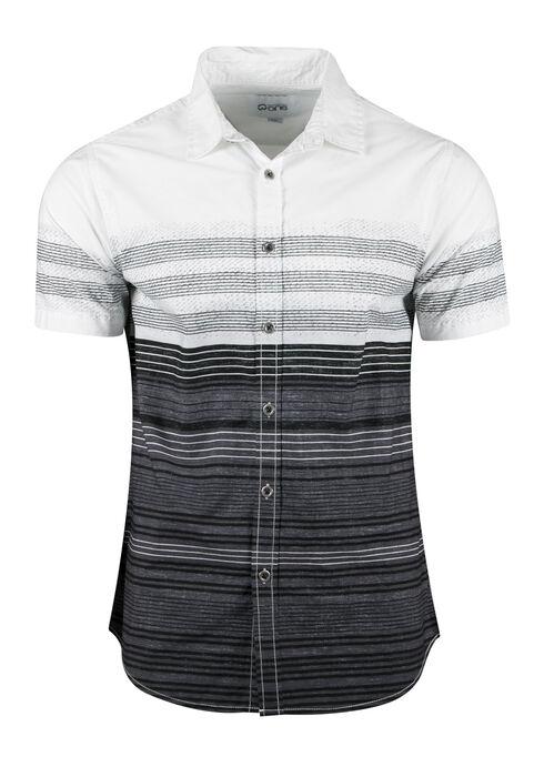Men's Stripe Shirt, WHITE, hi-res