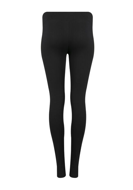 Ladies' Wide Waistband Legging, BLACK, hi-res