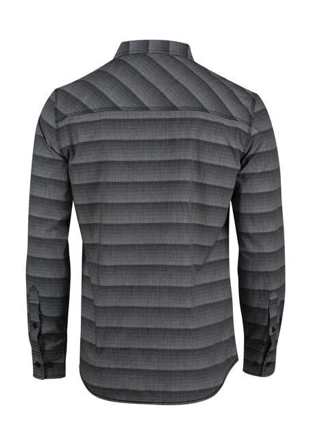 Men's Relaxed Stripe Shirt, BLACK, hi-res